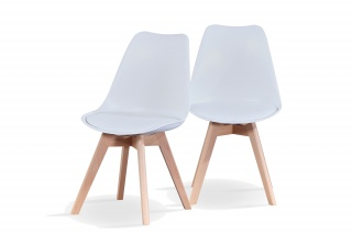 RayGar Deluxe Vintage Style Dining Chair – 2 Pack in Various Colours