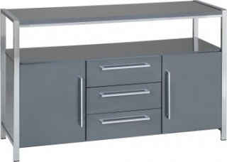 Charisma 2 Door 3 Drawer Sideboard - Grey