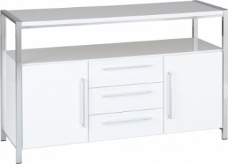 Charisma 2 Door 3 Drawer Sideboard - White