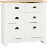 Ludlow 2+2 Drawer Chest - White/Oak Lacquer