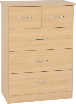 Nevada 3+2 Drawer Chest - Sonoma Oak Effect