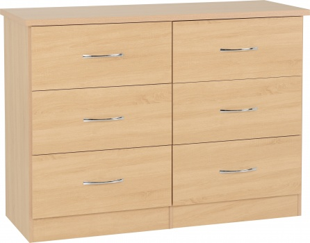Nevada 6 Drawer Chest - Sonoma Oak Effect