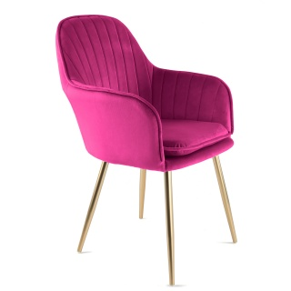 Genesis Muse Chair in Velvet Fabric - Fuchsia Pink